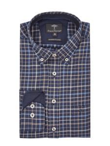 Koszula Fynch Hatton z długim rękawem z kołnierzykiem button down z bawełny