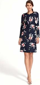 Sukienka Nife w stylu casual midi z długim rękawem