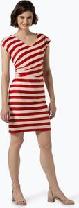 Czerwona sukienka comma, w stylu casual bez rękawów dopasowana