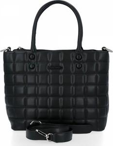 Czarna torebka David Jones w stylu glamour ze skóry ekologicznej