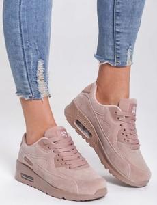 Różowe buty sportowe Renee sznurowane