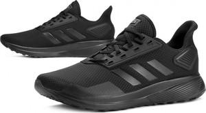 Czarne buty sportowe Adidas sznurowane duramo