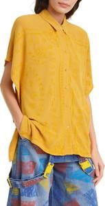 Żółta koszula Desigual z kołnierzykiem