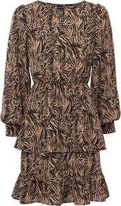Sukienka bonprix w stylu casual z okrągłym dekoltem z długim rękawem