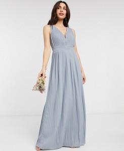 Niebieska sukienka Tfnc z dekoltem w kształcie litery v