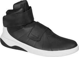Czarne buty sportowe Nike na rzepy ze skóry