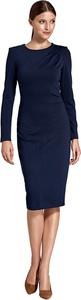 Niebieska sukienka Colett z długim rękawem midi