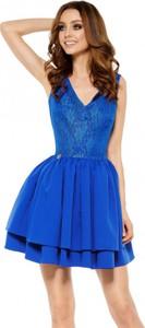 Niebieska sukienka Lemoniade gorsetowa