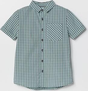 Turkusowa koszula dziecięca Reserved w krateczkę