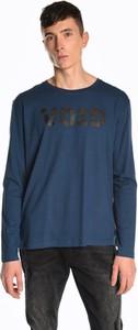Niebieska koszulka z długim rękawem Gate z długim rękawem