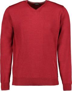 Czerwony sweter Lavard z wełny