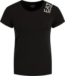 T-shirt EA7 Emporio Armani z okrągłym dekoltem z krótkim rękawem w stylu casual