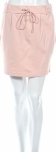 Różowa spódnica Omly mini w stylu casual