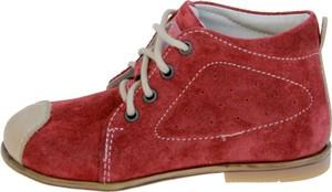 Czerwone buty dziecięce zimowe EMEL sznurowane