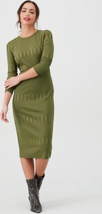 Sukienka V by Very midi z długim rękawem