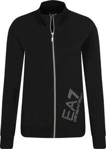 Czarna bluza EA7 Emporio Armani krótka