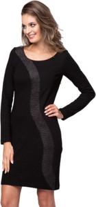 Czarna sukienka Look made with love z długim rękawem ołówkowa mini