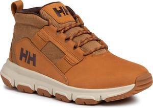 Pomarańczowe buty zimowe Helly Hansen sznurowane