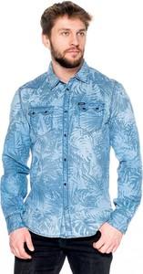 Koszula Guess z klasycznym kołnierzykiem z długim rękawem