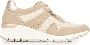 Buty sportowe Wittchen z płaską podeszwą ze skóry sznurowane