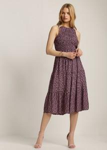 Sukienka Renee midi z okrągłym dekoltem bez rękawów