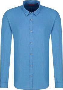 Koszula Hugo Boss z długim rękawem z lnu