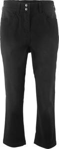 Bonprix bpc bonprix collection spodnie 3/4 ze stretchem i wygodnym paskiem w talii
