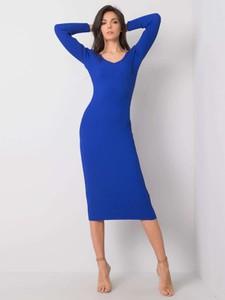 Sukienka Sheandher.pl dopasowana z długim rękawem