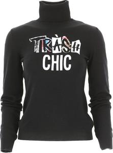 Czarny sweter Moschino z wełny