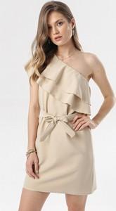 Sukienka born2be asymetryczna w stylu casual mini