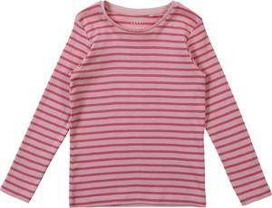Różowa bluzka dziecięca Name it z bawełny