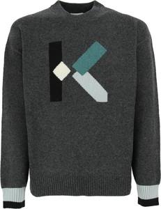 Sweter Kenzo z wełny z okrągłym dekoltem w młodzieżowym stylu