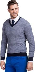 Niebieski sweter Giacomo Conti z wełny