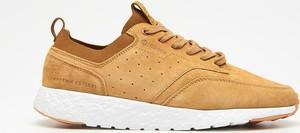 Cropp - Niskie sneakersy z naturalnej skóry - Żółty