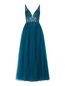Niebieska sukienka Mascara z dekoltem w kształcie litery v
