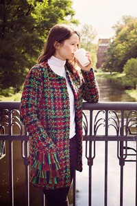 Kurtka Bien Fashion z wełny długa