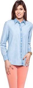 Niebieska koszula Wrangler z kołnierzykiem z długim rękawem