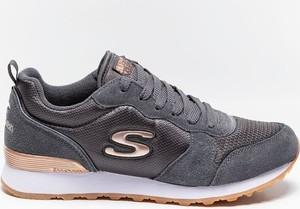 Buty sportowe Skechers sznurowane z zamszu z płaską podeszwą