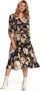 Sukienka Top Secret koszulowa midi z długim rękawem