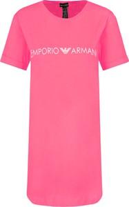 Sukienka Emporio Armani prosta w stylu casual z okrągłym dekoltem