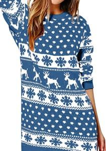 Sukienka Sandbella w bożonarodzeniowy wzór mini