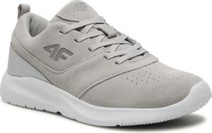 Buty sportowe 4F w sportowym stylu z płaską podeszwą sznurowane