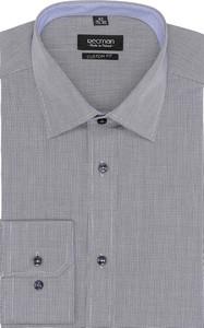 Szara koszula recman bez wzorów