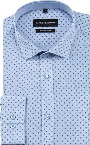 Niebieska koszula Giacomo Conti z bawełny z długim rękawem