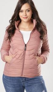 Różowa kurtka born2be w stylu casual