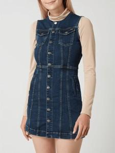 Sukienka Pepe Jeans mini w stylu casual z kołnierzykiem