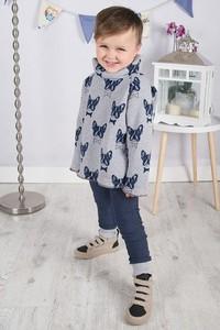 Niebieskie spodnie dziecięce Meleksima z bawełny