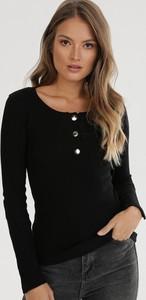 Czarna bluzka born2be z długim rękawem