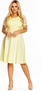 42cfd0c2eb Sukienka Roxana midi z krótkim rękawem z okrągłym dekoltem