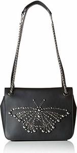 Czarna torebka Furla w stylu glamour